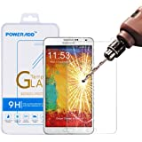 Samsung Note 3 Screen Protector, Poweradd Samsung Galaxy Note 3 Tempered Glass Screen Protector with Bubble Free, 9H Hardness, Touchscreen Accuracy and Lifetime Hassle-free Warranty - Retail Packaging