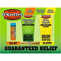 O'Keeffe's Giftbox including Cooling Relief Lip Repair Stick, Working Hands Tube and Skin Repair Tube