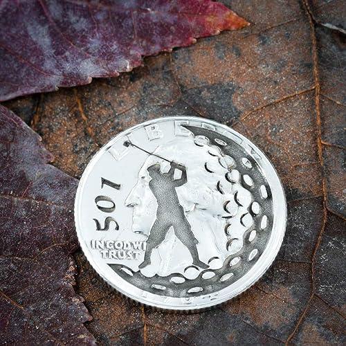 Amazon com: Custom Golf Ball Marker, Number engraved, Etched Quarter