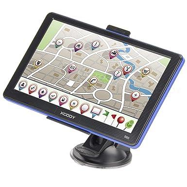Bluetooth pantalla táctil capacitiva 7 pulgadas coche camión GPS navegación 8 G ROM preinstalado América del