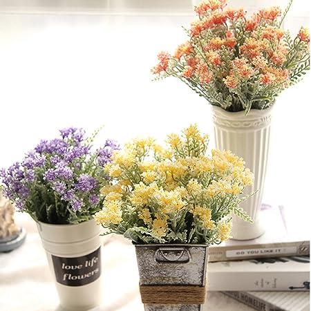 LianLe Hojas Flore Plantas Artificial para Boda Casa Jardín Decoración,Yellow: Amazon.es: Hogar