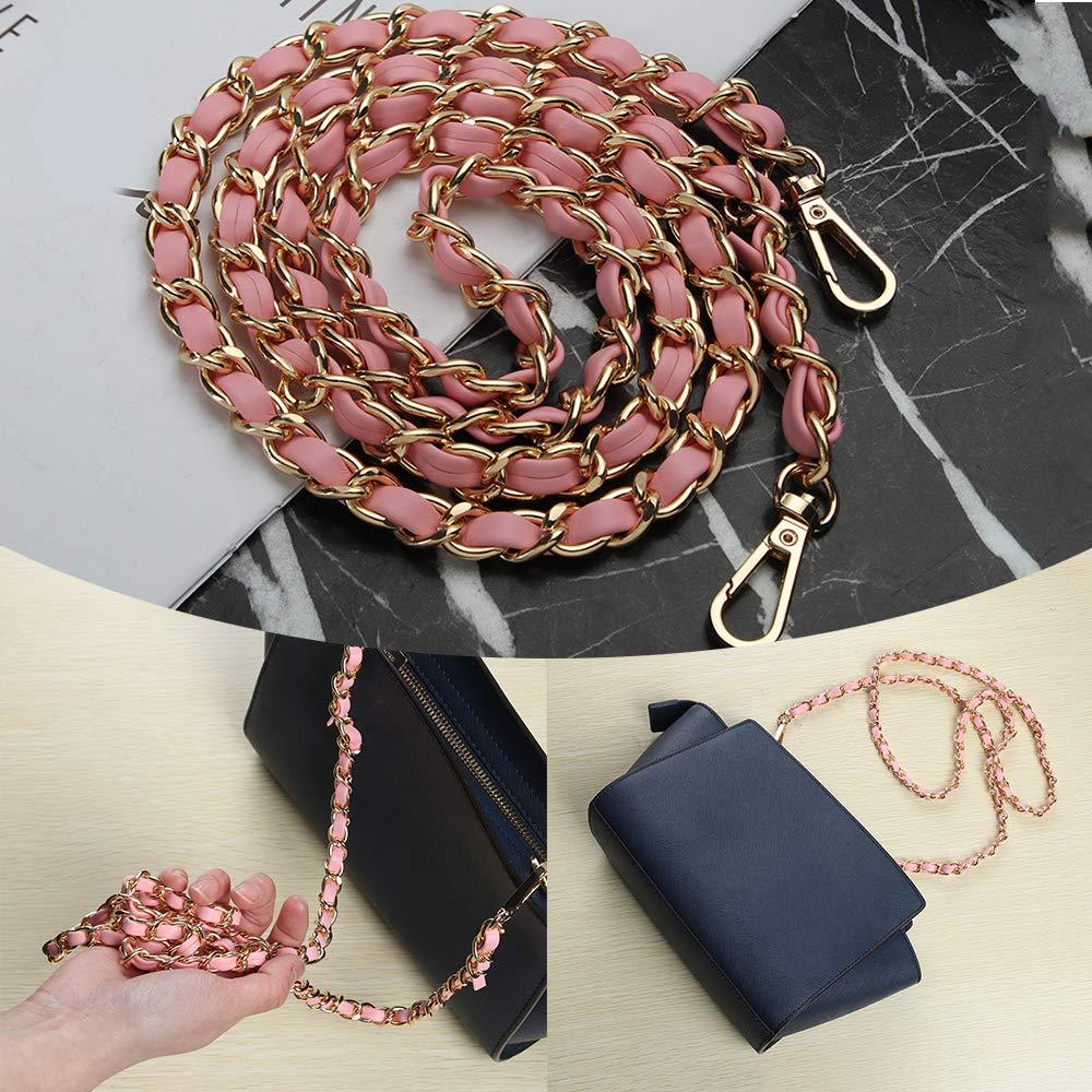 Abuyall DIY Iron Flat Chain Strap Handbag Accessories Metal Replacement Straps H