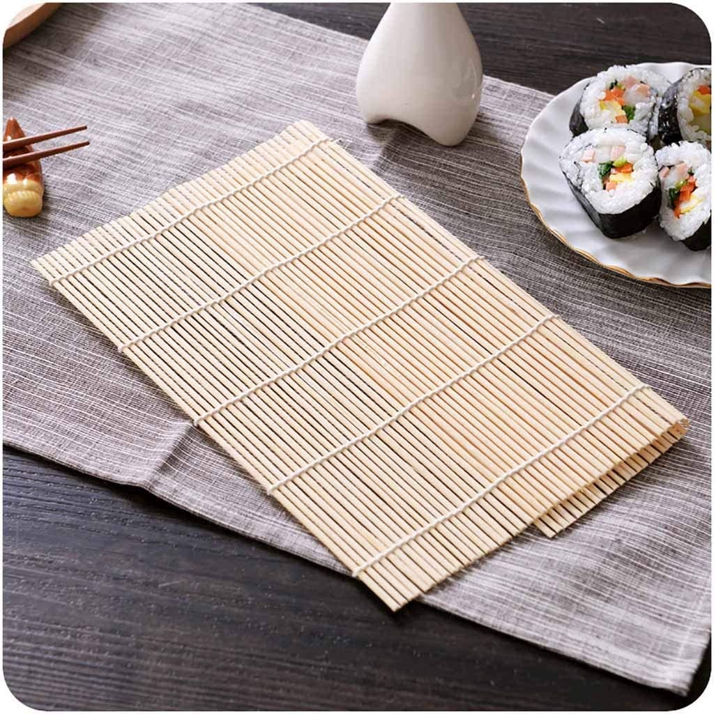 VS2# DIY Japanese Sushi Rice Roll Maker Bamboo Material Rolling Mat Cooking To