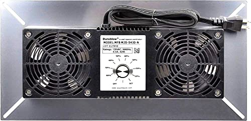 Durablow MFB M2D-N Air-In Stainless Steel 430 Crawl Space Foundation Dual Fans Ventilator Built-in Dehumidistat Freeze Protection Thermostat Radon Mitigation Stainless Steel 430, M2D S430-N