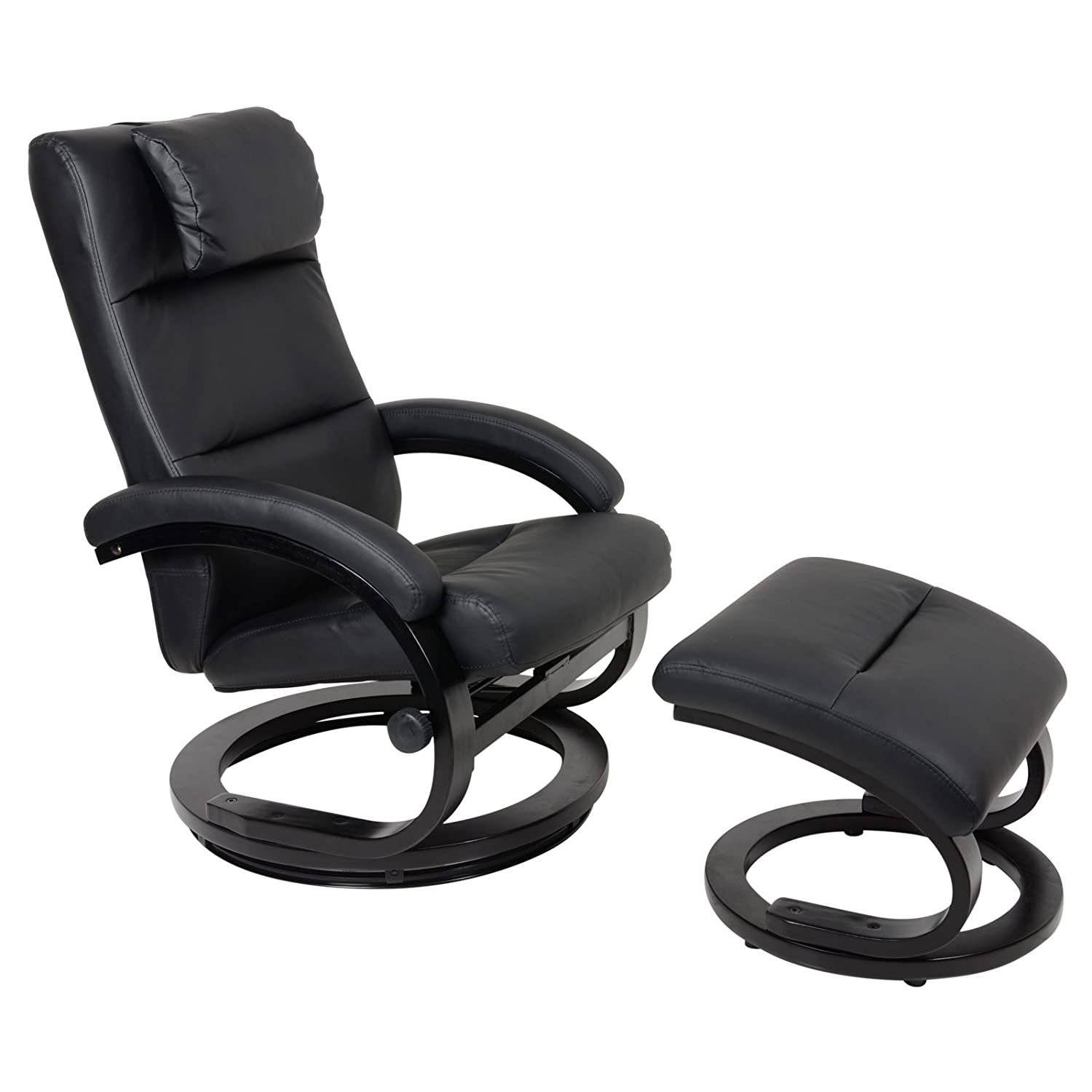 Relaxer Chair Lounger Padded Armchair Recliner Seat With Foot
