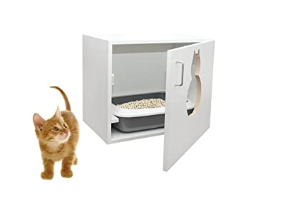 maunz gato basura bandeja armario con pala 63 x 53,5 x 41 cm
