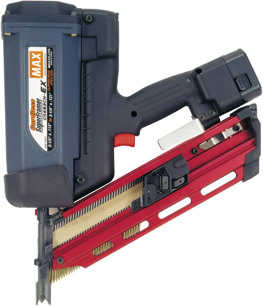 Max GS683CH-EX Cordless SuperFramer 34-Degree Nailer