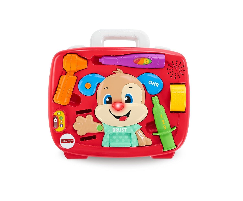 Fisher-Price FPP97 Lernspaß Hündchens Arztkoffer Doktorset mit Liedern und Sätzen und mitwachsenden Spielstufen, ab 18 Monaten deutschsprachig Mattel GmbH