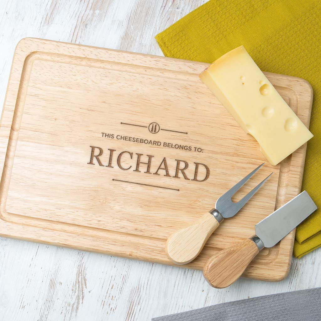 Cooking Gifts for Him Personalized Cutting Board -This Cheeseboard Belongs to Wood or Slate available Birthday Anniversary Gift for Men Design