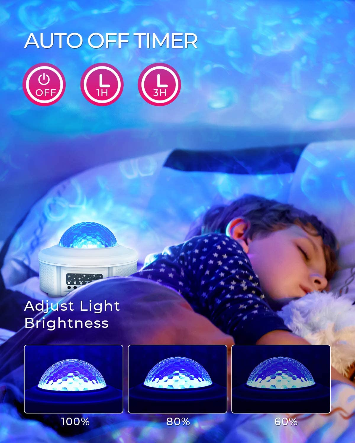 for Party//Room Decor Bluetooth Music Speaker /& Upgraded Music Mode Galaxy Projector Star Light Projector for Bedroom for Kids Star Projector Night Light Ocean Wave Projector with Led Nebula