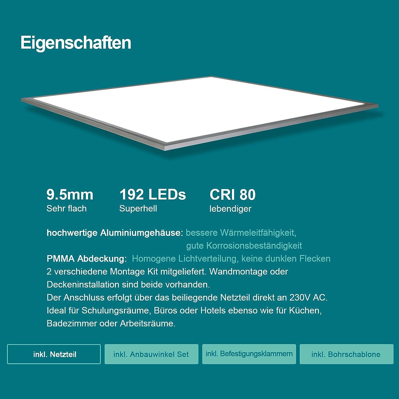 4000K 5000lm 48W Wei/ßrahmen Lampe d/ünn SLIM Ultraslim Deckenleuchte Wandleuchte Einbauleuchten OUBO LED Panel Deckenleuchte 120x30cm Neutralwei/ß
