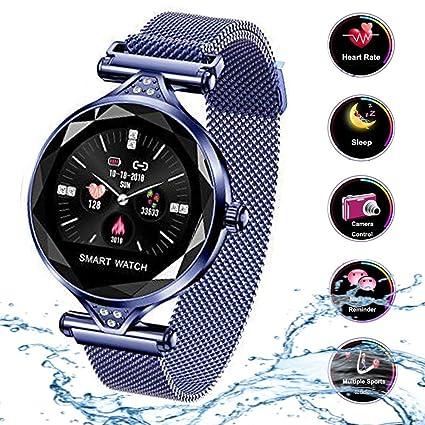 Smart Watch para Mujeres H1 Pulsera Actividad Inteligente con Pulsómetro Impermeable IP67 Podómetro Pulsera Deportiva Monitor