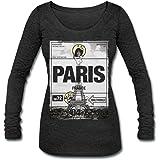 Spreadshirt Smiley World Paris Eiffel Tower Womens Tri-Blend Long Sleeve T-Shirt