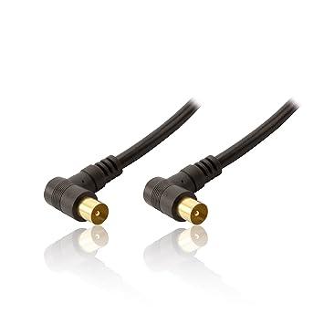 CDL Micro 2 m 6 pies de chapado en oro, ángulo recto ambos extremos TV