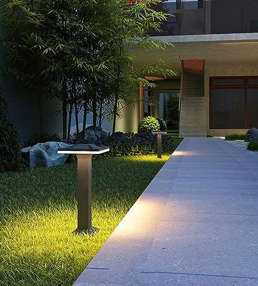 Lámpara Exterior LED De Aluminio Fundido Negro Lámpara De Pedestal Impermeable IP65 Altura 40 Cm Lámpara De Jardín 12W 3000K/Bolardo/Luz Exterior/Lámpara De Trayectoria/Post Luz/Lámpara De Pie: Amazon.es: Hogar