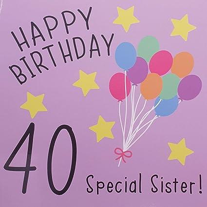 Tarjeta de felicitación de 40 cumpleaños para hermana ...