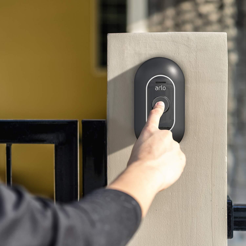 Support Mural pour Support de Fixation Mural BECEMURU Stability ABS Support de Protection Mural avec Coin r/églable pour Arlo Doorbell Blanc