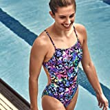 Speedo Women's Turnz tie Back one Piece, Blue