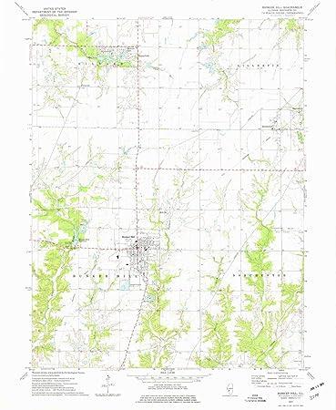 Bunker Hill Illinois Map.Amazon Com Yellowmaps Bunker Hill Il Topo Map 1 24000 Scale 7 5