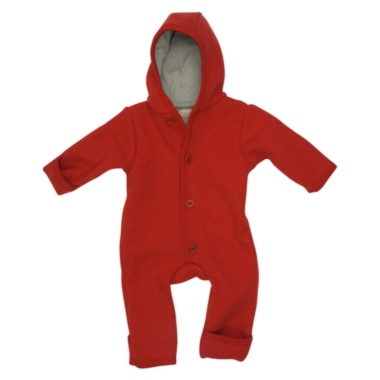 Disana Baby Walkoverall aus Bio Schurwolle kbT (50/56, rot)