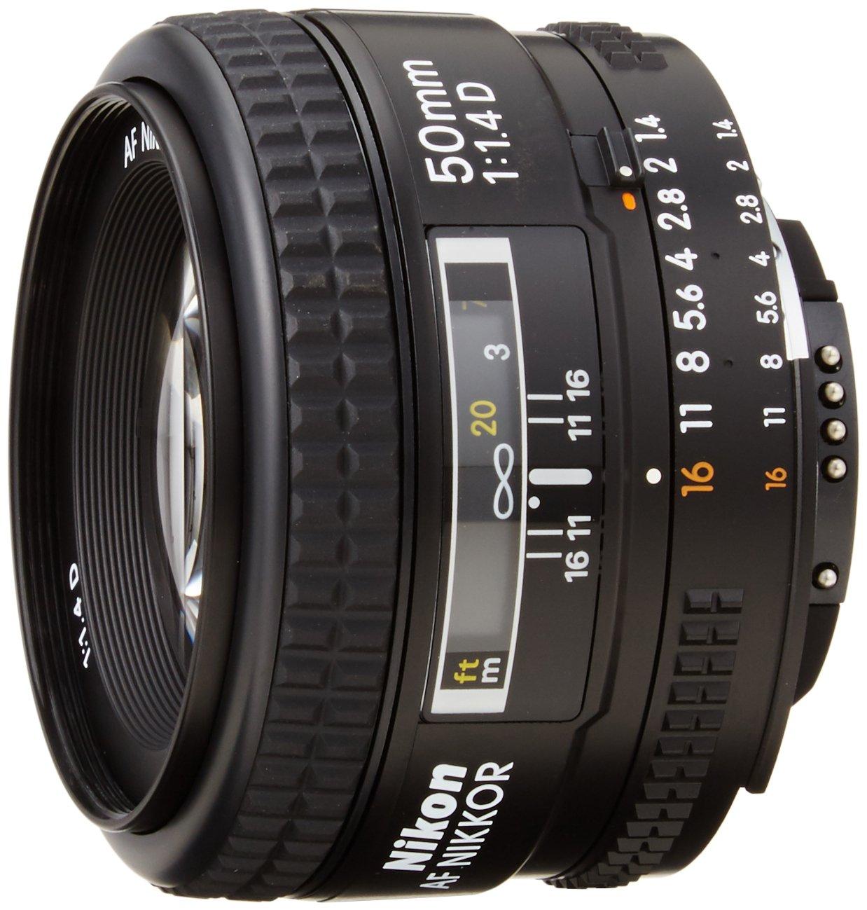 Nikon AF Nikkor 50mm - Objetivo para Nikon (distancia focal fija 50 mm, apertura f/1.8, diámetro: 63 mm) Negro 2137 takestak-4730523