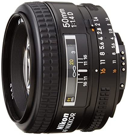 Nikon AF FX NIKKOR 50mm F/1 4D DSLR Lens with Auto Focus for Nikon DSLR  Cameras