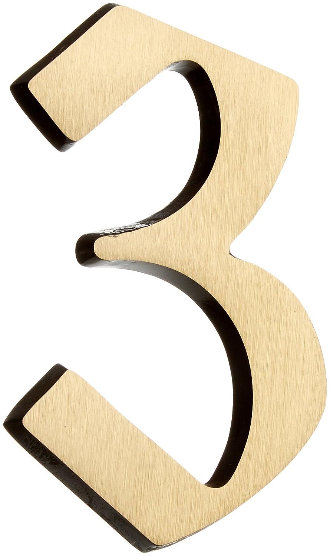 Individuelle Kombinationsm/öglichkeiten // Beschriftung // Kennzeichnung // Ziffer // Haust/ür // Hauswand // Gartentor // 424037 Metafranc Hausnummer 4 Edelstahl 3D Design Gute Lesbarkeit 120 mm