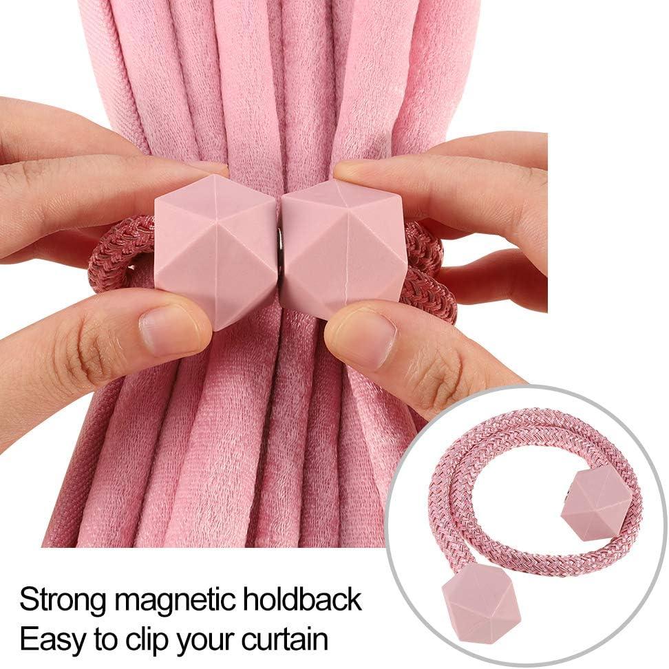 Magnetic Curtain Tiebacks Curtain Clips Rope Holdbacks Holder for Home Office Decorative Beige falllea 4 Pcs Curtain Tiebacks