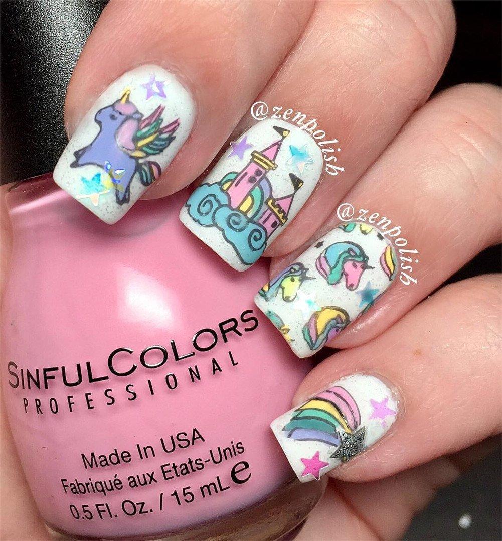 BORN PRETTY 1Pc Rectangle Stamping Plate Unicorn Pattern Manicure Nail Art Plate Harunouta L045 9