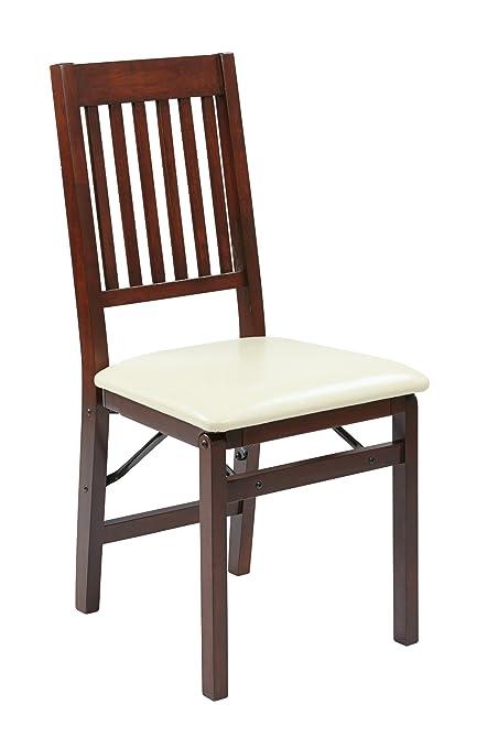 Superbe OSP Designs HA424 CM Hacienda Folding Chair, Cream