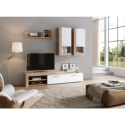 Mueble TV, Subida Domicilio, Compuesto por: Mesa TV, estanterias ...