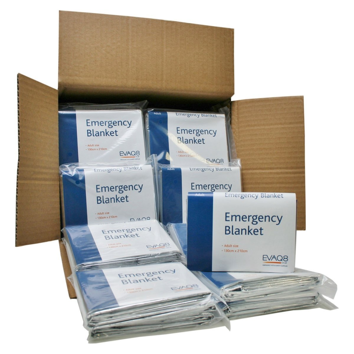 Pack of 100 Foil Blankets for Sports & Emergencies EVAQ8 B300X100