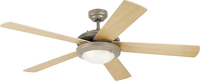 Westinghouse 7813620 Comet One Light 52 Inch Five Blade Ceiling Fan Brushed Pewter With An Opal Globe Ceiling Fans With Lights Amazon Canada