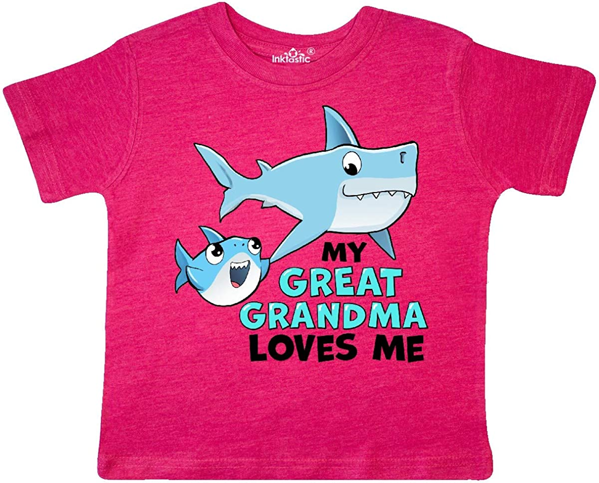 inktastic My Great Grandma Loves Me with Toddler T-Shirt 2T Retro Heather Pink