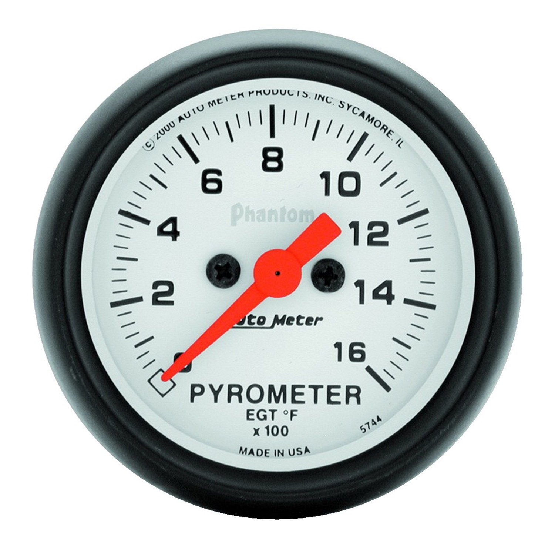 Auto Meter 5744 Phantom Electric Pyrometer Gauge Kit