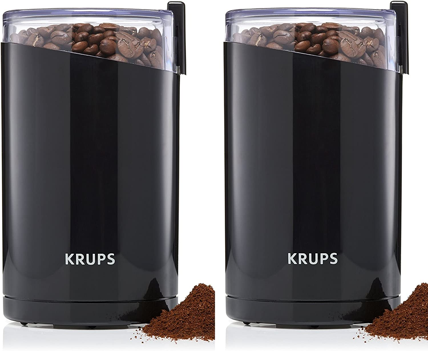 Amazon Com Krups F203 Electric Spice And Coffee Jqdazc Grinder With Stainless Steel Blades 3 Ounce Black Blade Grinder Pack Of 2 Home Kitchen