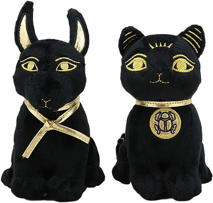 Large Size Egyptian Plush Black /& Golden Anubis Stuffed Animal.Soft and Cuddly