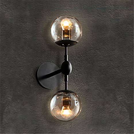 Baycheer hl374977 vintage 2 bubble globe glass shade wall lighting baycheer hl374977 vintage 2 bubble globe glass shade wall lighting wall lamp use 2 e26 light aloadofball Images