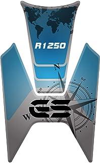 R 1200 PARASERBATOIO ADESIVO RESINATO EFFETTO 3D compatibile con BMW R1200 GS 2008-2012 Yellow