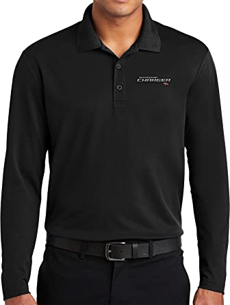Yoga Clothing For You Dodge Charger Long Sleeve Polo R/T Logo ...
