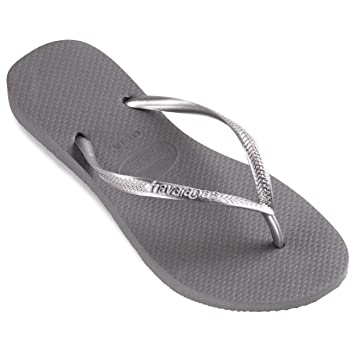 6dc94bd20a63a Image Unavailable. Image not available for. Color  Womens Havaianas Spring  Beach Thongs Brazil Summer Floral Flip Flops - Steel Gray - 9