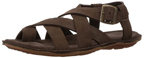7cb55ca7bd9 Woodland Men s Brown Leather Sandals and Floaters - 9 UK India (43 ...