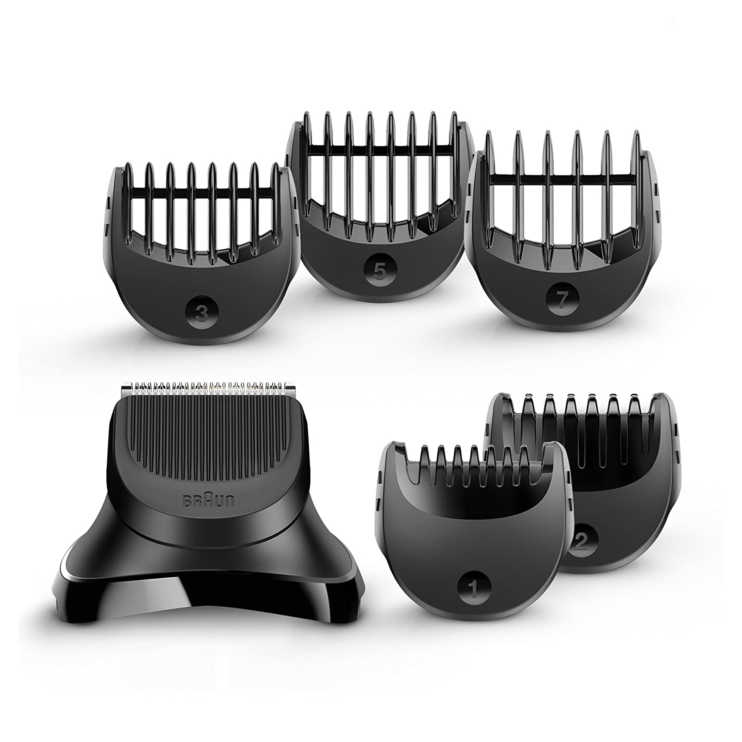 Braun BT32 Trimmer Head for Beards, with 5 Combs for Precision Trimming