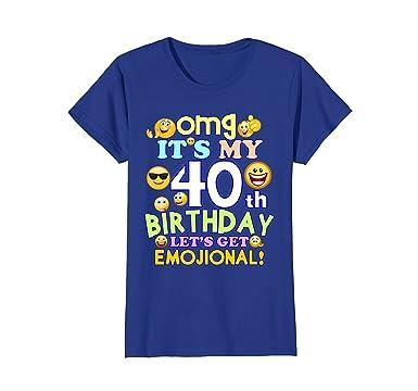 Amazon Womens Its My 40th Birthday Funny Emoji T
