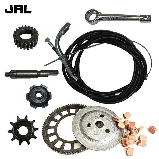 jrl embrague Big Bevel Gear juego de fricción y embrague tuerca para 49 cc 66 cc 80 cc motorizado bicicleta: Amazon.es: Coche y moto