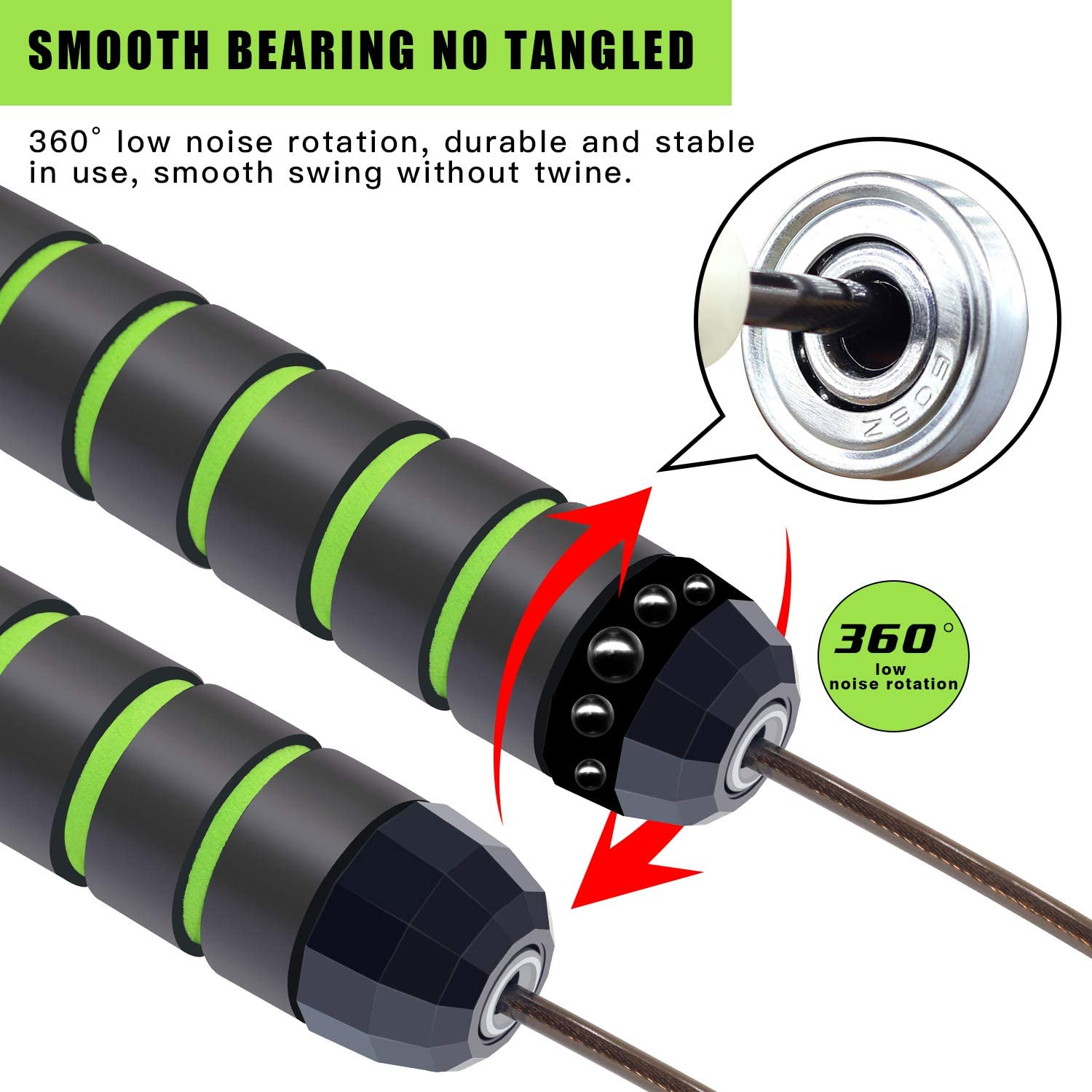 Women Men Kids and All Skill Levels Boxing MMA Kamileo Speed Jump Rope Adjustable Jump Rope Suitable for Workout Exercise Fitness Training