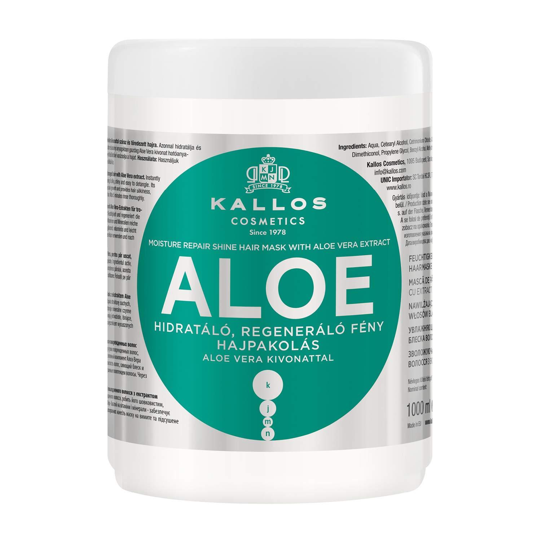 Kallos Moisture Repair Shine Masque pour Cheveux Aloe Vera 1 L KJMN1168