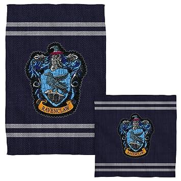 Punto de Ravenclaw Crest - -Harry Potter - -Cara y juego de toallas de mano (: Amazon.es: Hogar