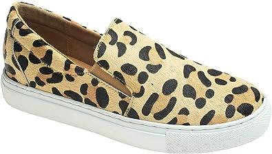 leopard calf hair sneakers