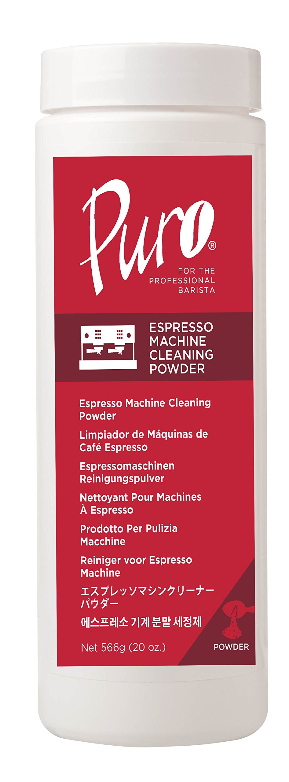 Puro Caff - 20 Ounce - Espresso Machine Cleaner Cleaning Powder Back Flush Espresso Machines Clean